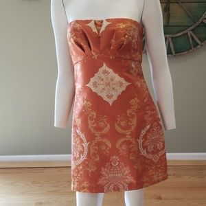 Free People copper combo dress